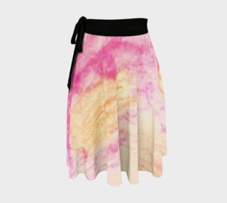 Pink Flowerets Wrap Skirt preview
