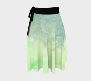 Green Dimension Flower Wrap Skirt preview
