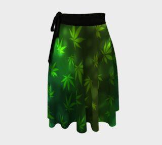 Shining Pot Leaves Hippie Skirt preview