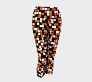 Aperçu de Orange, Black, and White Random Mosaic Squares