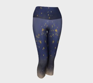 Wish Upon A Midnight Star Capri Yoga Leggings preview