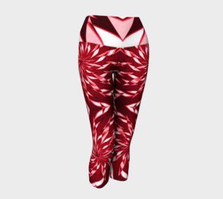 Aperçu de Dark Red Elegant Whirl Capris Yoga Leggings
