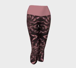 Aperçu de Dusty Rose Elegant Whirl V2 Capris Yoga Leggings