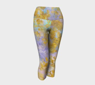 Watercolor and Golden Flakes Yoga Capri preview