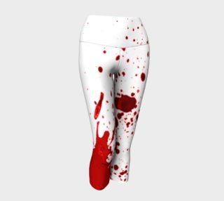 Blood Splatter First Cosplay Halloween Yoga Capris preview