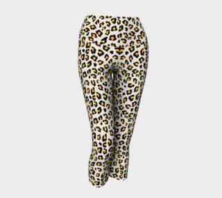 Leopard Print - Mustard Yellow Yoga Capris preview