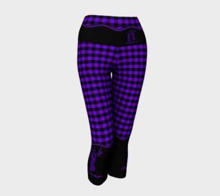 Aperçu de Attitude 13 Purple Flannel Design Capris