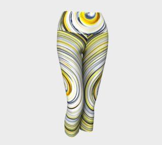 Yellow And Black Funky Swirl aperçu