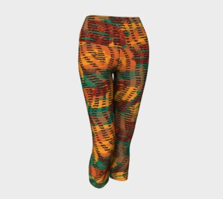 Abstract Animal Stripes Yoga Capris preview