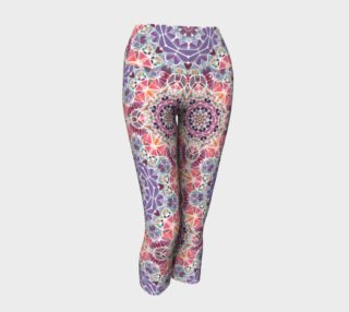 Purple and Pink Kaleidoscope Yoga Capris preview