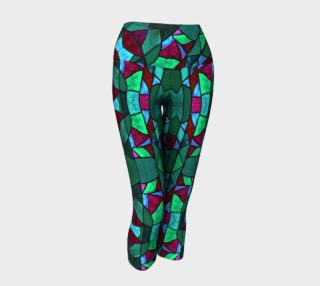 Rose Garden Stained Glass Yoga Capris preview