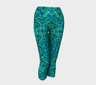 Perfect Turquoise Mosaic Yoga Capris preview