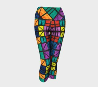 Detroit Stained Glass Yoga Capris preview