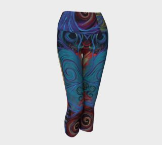 Tree of a Colourful Life Yoga Capris  preview