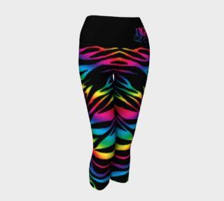 Rainbow Zebra Yoga Capris preview