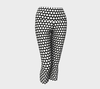 White Polkadots yoga capris preview