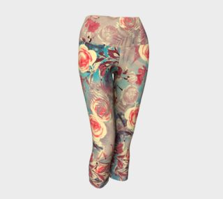 yoga capris light flowers preview