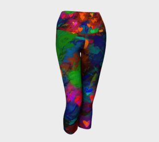 Wrapped in Painted Hearts Yoga Capris preview