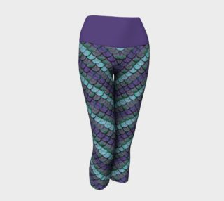 Opalescent Mermaid Scale Capris preview