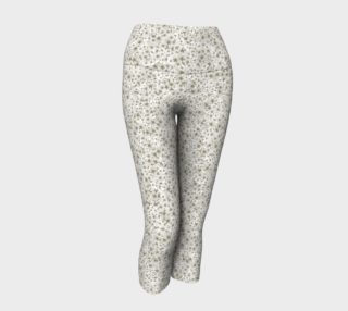 White Pressed Flower Capris preview