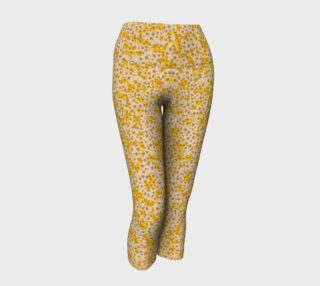 Pastel Yellow Pressed Flower Capris preview