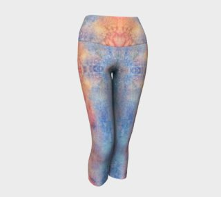 Rose Quartz and Serenity Watercolor Leggings preview