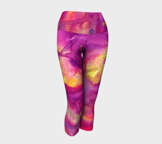 Sunset Bliss Watercolor Leggings preview