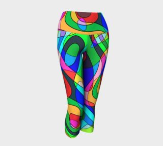 Modern POP ART Squiggly Loops multicolored preview