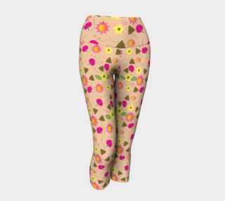 Whimsical Blooms Yoga Capris preview
