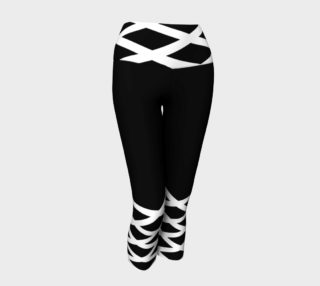 EverLuna Black_white Yoga Capris preview