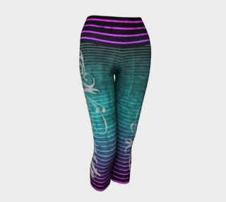 Umsted Design Namaste Distressed Striped Leggings preview