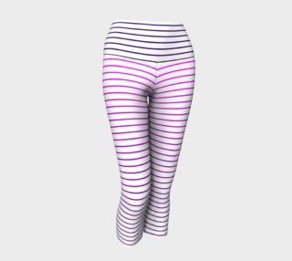 Lunatic Stripes White with Royal Purple to Pink Fade with Royal Purple Waist  preview