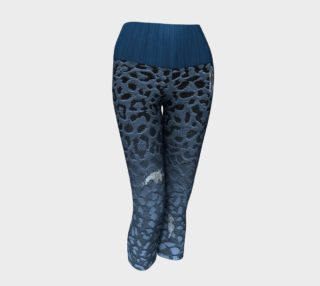 Blue Ombre Leopard Print Faux Ripped Denim Design preview