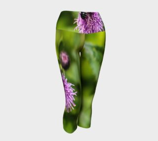 Aperçu de A Bee on a Purple Flower Yoga Capris