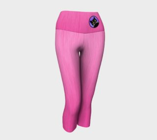 Cute Black Kitty Pink Ombre Yoga Capris preview