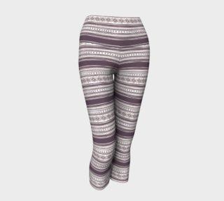 Lilac Pattern Yoga Capris preview