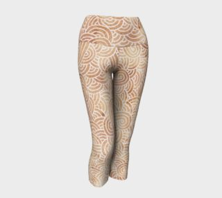 Iced coffee and white swirls doodles Yoga Capris preview