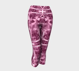Marble Cross Medallion - Rose Yoga Capris preview