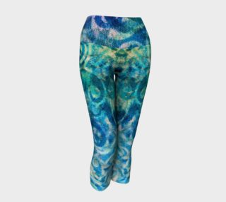 Blue Swirl Yoga Capris preview