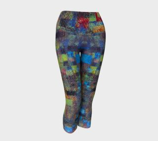 Abstract Mosaic Yoga Capris preview