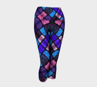 Waterlily Stained Glass - Purple Yoga Capris II preview
