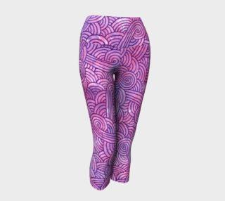 Neon purple and pink swirls doodles Yoga Capris aperçu
