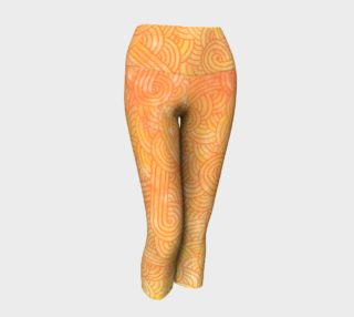 Yellow and orange swirls doodles Yoga Capris preview