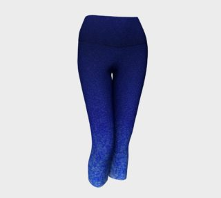 Blue Watercolor Ombre Lace Dark Capris preview