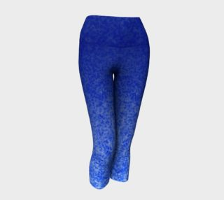 Blue Ombre Watercolor Yoga Capris preview