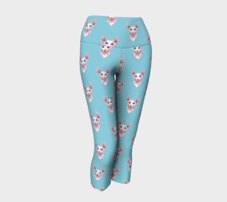 Sphynx cats pattern Yoga Capris preview