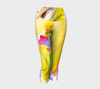 Abstract Organic Nature Floral Capri Yoga Pants preview