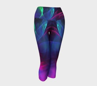 Blue, green, pink and black yoga capris preview