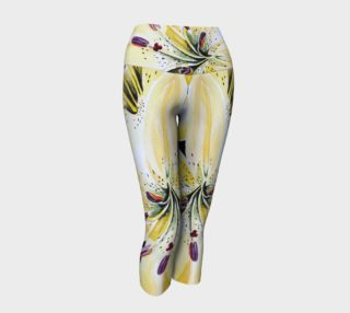 Yellow Lilies  Delight Yoga Capris II preview