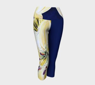 Yellow Lilies Delight  Yoga Capris III preview